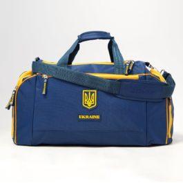 Сумка спортивная | С195M | «Ukraine» Тёмно-синяя