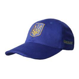 Бейсболка | «Ukraine» Тёмно-синяя | Вышивка