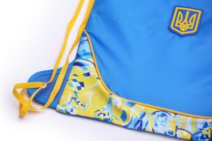 Рюкзак-мешок спортивный | РМ3 | «Ukraine» Жёлто синий