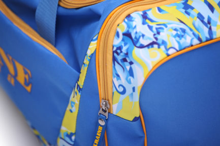 Сумка спортивная | С434 | «Ukraine» Жёлто синий