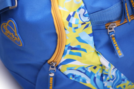 Сумка спортивная | С445 | «Ukraine» Жёлто синий